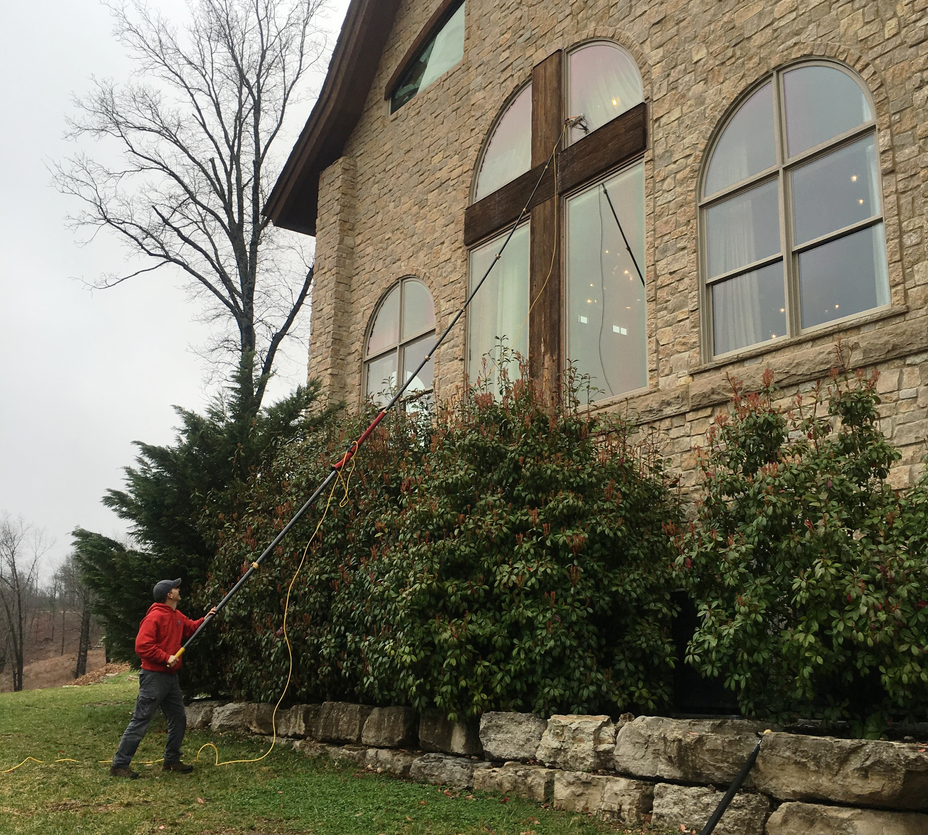 Integrity Hills Wedding Chapel Window Cleaning Branson, Mo